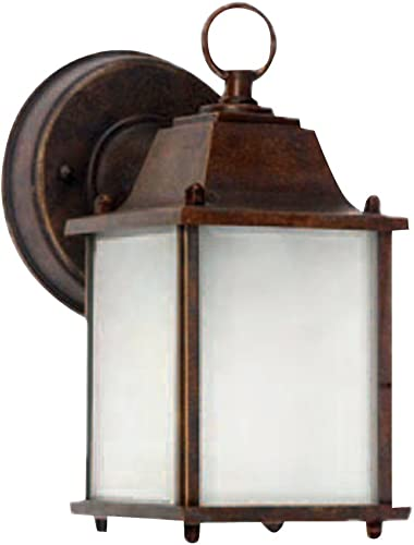 AA Warehousing EL580BR Exterior Outdoor Light Fixture Brown Finish with Frosted Glass