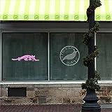 Jaguar Decal Sticker (pink, 36 inch) for car truck window glass auto bumper