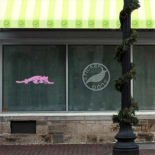 Jaguar Decal Sticker (pink, 36 inch) for car truck window glass auto bumper by Stickerslug