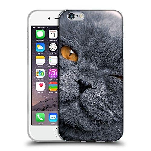 """Just Phone Cases Coque de Protection TPU Silicone Case pour // V00004248 clin de chat gris britannique // Apple iPhone 6 6S 6G PLUS 5.5"""""""