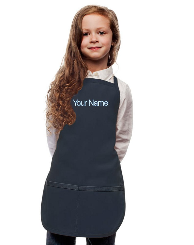 My Little Doc Personalized Navy Blue Kids Apron, Poly/Cotton Twill Fabric (Regular)