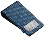 Personalized Blue Carbon Fiber Money Clip with Free Engraving up to 3 Initials