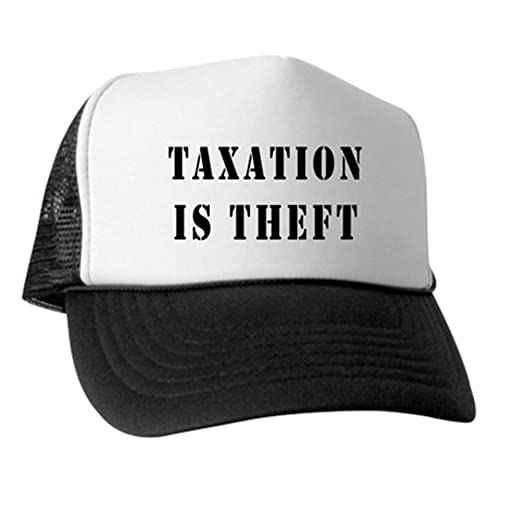 Amazon.com  CafePress Taxation is Theft Trucker Hat ad627555885d