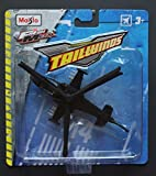 """Maisto Tough Gears Diecast Aircraft - Russian Kamov Ka-52 """"Alligator"""" Attack Helicopter - Six Blade Main Rotor, No Tail Rotor, Dual Pilot and Twin Turbo Configuration - Black, 5.5"""" rotor tip to tail"""