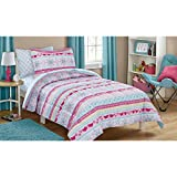 zebra bedspread full - Reversible Comforter and Matching Sheet Set for All Seasons (FULL, Folkloric Stripe)