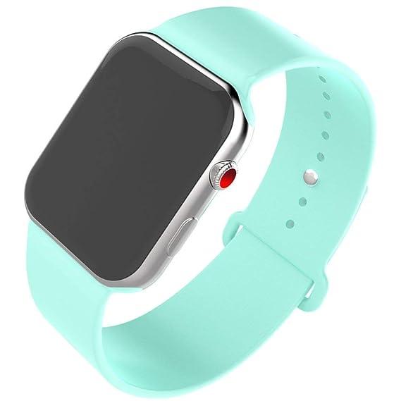 Amazon.com: Smart Watch Band 38mm, Jihibo Silicone Watch ...