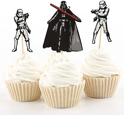Star Wars Light Saber Cake Cupcake Toppers Picks MAY THE 4TH  Birthday