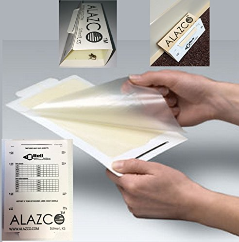12 ALAZCO Glue Traps - Glue Boards Mouse Trap Bugs Insects Spiders Cockroaches Trapper & Monitor NON-TOXIC - Mouse Insect Glue