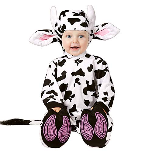 Costume Halloween 95 (XXOO Toddler Baby Infant Dots Cow Halloween Dress Up Costume Outfit, Black, 95CM (13-18)