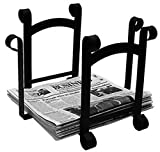 Cheap Iron Plain Magazine Storage-Newspaper Rack – Heavy Duty Metal Magazine Rack, Newspaper Holder, Magazine Holder, Fireplace Accessories