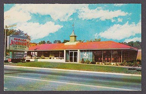 Cream Howard Johnsons Ice (Howard Johnson's Ice Cream & Restaurant postcard 1950s)