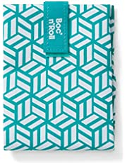 Roll'eat - Boc'n'Roll Tiles | Herbruikbare Ecologische Boterhamzak zonder BPA, Blauw | Waterdicht, Vlek-bestendig, Gemakkelijk Te Reinigen - Machine-wasbaar