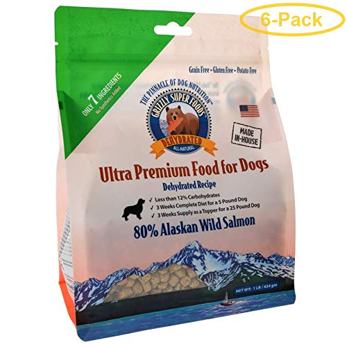 Grizzly Super Foods Dehydrated Alaskan Wild Salmon for Dogs 1 lb - Pack of 6 by Grizzly Pet Products