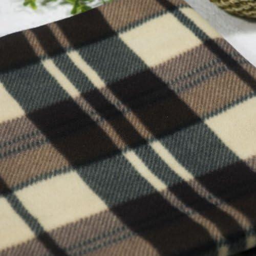 Scotch Plaids -Blue//Yellow//White Soft Coral Fleece Throw Blanket Blancho 5...