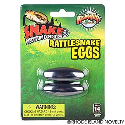 Rhode Island Novelty 1.75 Inch Magnetic Rattle Snake Eggs Six Pairs: Toys & Games