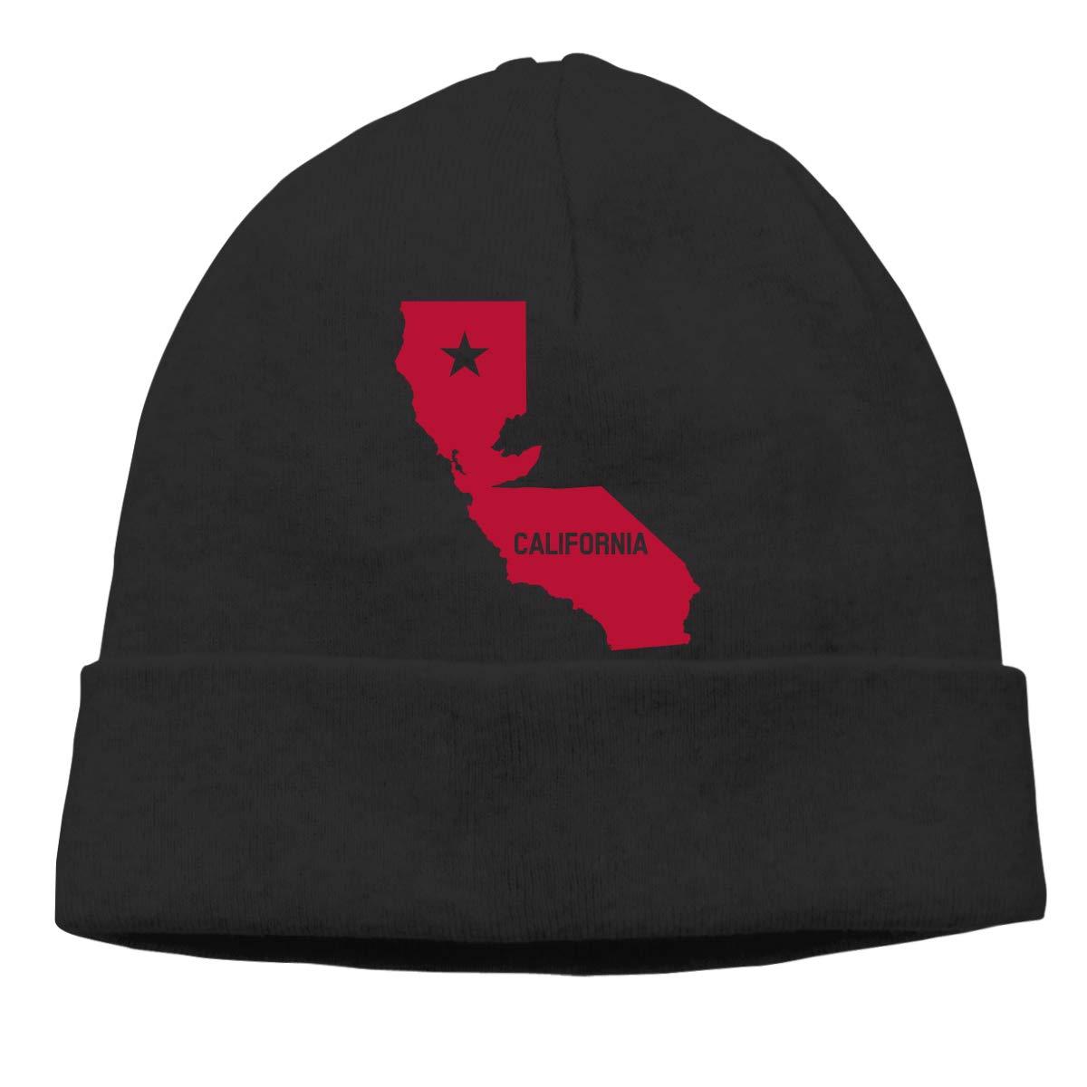 Beanie Hat California Fag Map Warm Skull Caps for Men and Women