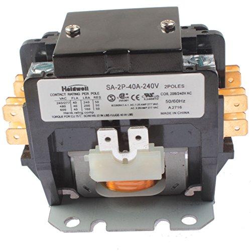 (Holdwell SA-2P-40A-240V 2 Pole 40 Amp 240V Coil Definite Purpose Contactor )