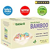 Best Bamboo Diapers | Eco-Friendly Hypoallergenic | Silky Soft w/Wetness Indicator Wicks Away Moisture to Keep Your Baby Dry & Happy | Premium High Quality | Size 1-2 | 9-16lb 30ct for Sensitive Skin
