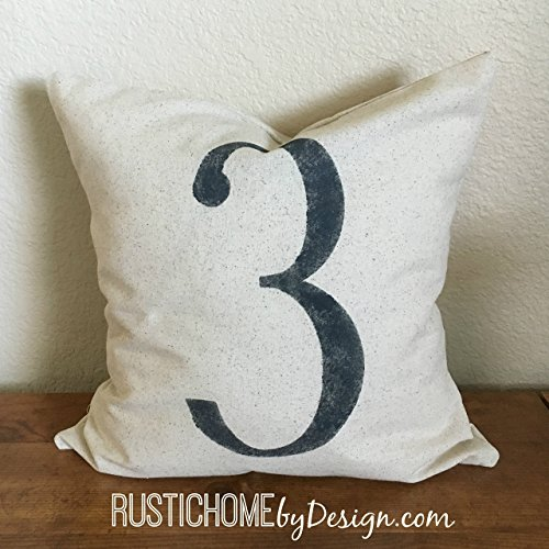 Number Pillow Cover | Rustic Pillow Cover | Farmhouse Pillow | Multiple Sizes Available | Custom Pillow Cover | Made To Order