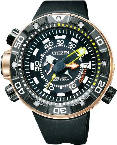 Reloj Citizen Aqualand 200 Mt Div Bn2025 02e Hombre Negro