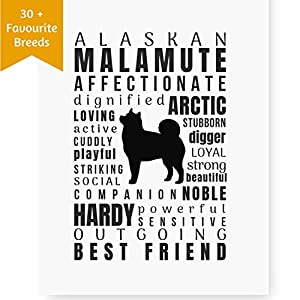 Dog Décor Malamute Wall Art - Quote Print (8x10 Unframed) | Pet Memorial Gifts | Dog Mom Gift | New Puppy Keepsake Gifts for Dog Lovers 4