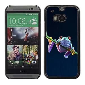 YOYO Slim PC / Aluminium Case Cover Armor Shell Portection //Cool Funny Jungle Frog //HTC One M8