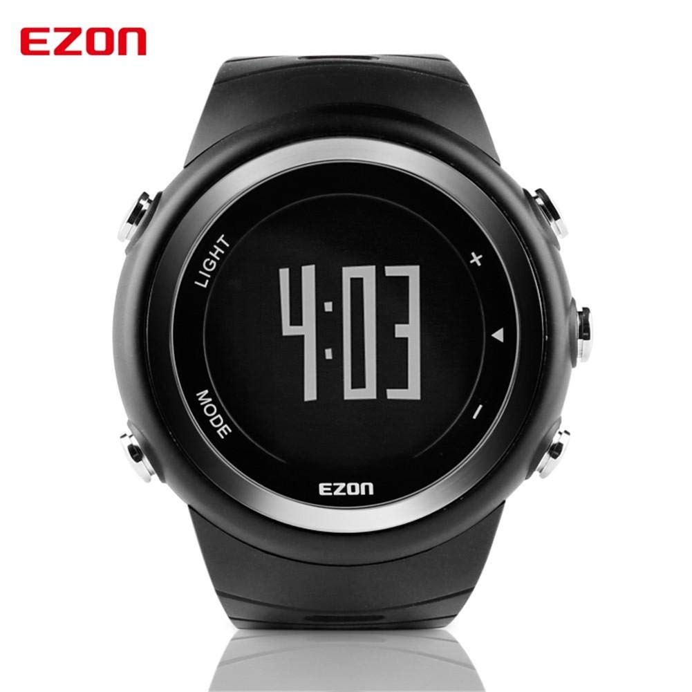 Digital Sports Watch Waterproof Large Screen Military Stopwatch Outdoor Easy Read Casual with Back Light and Silicone Strap by foreverwen