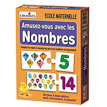 StonKraft Number Fun (French) | Learn French | Language Independent | Educational Toys | Learning Games | Counting Games | Matching Games for Kids & Toddlers
