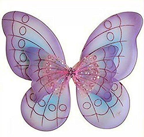 Fairy Wings (Purple Butterfly Costume Dress-up Wings)
