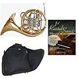 Band Directors Choice Double French Horn Key of F/Bb - First Recital Series French Horn Pack; Includes Intermediate French Horn, Case, Accessories & First Recital Series French Horn Book