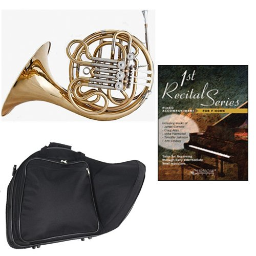 Band Directors Choice Double French Horn Key of F/Bb - First Recital Series French Horn Pack; Includes Intermediate French Horn, Case, Accessories & First Recital Series French Horn Book by Double French Horn Packs