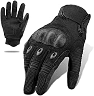 Tactical Gloves, Full Finger Touchscreen Gloves, Motorcycle Military Training Army Shooting Outdoor Gloves