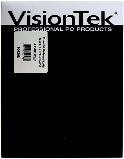 VisionTek Radeon 4350 SFF DMS59 512MB DDR2 PCIe x1 Graphics Card 900308