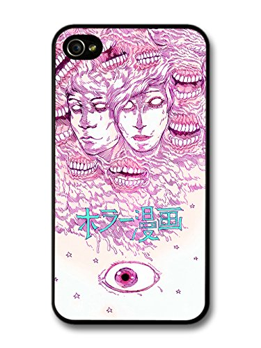 Cool Horror Comic Japanese Manga Design with Creepy Eye case for iPhone 4 4S
