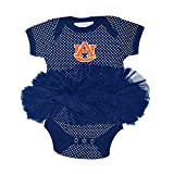 Two Feet Ahead NCAA Auburn Tigers Children Girls Pin Dot Tutu Creeper,Nb,Navy
