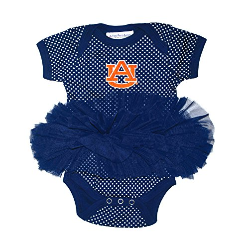 NCAA Auburn Tigers Children Girls Pin Dot Tutu Creeper,18 mo,Navy