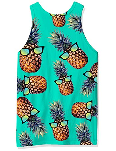 RAISEVERN Verano Hombre Pineaaple gráfico 3D sin Mangas Tank Tops L