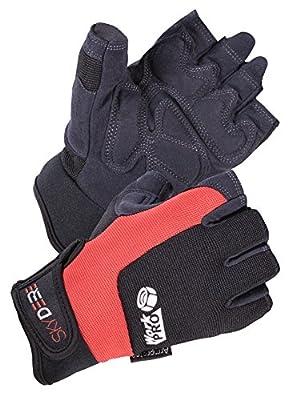 SKYDEER Hi-Performance Synthetic Leather Utility Fingerless Work Gloves (SD8822/XL)