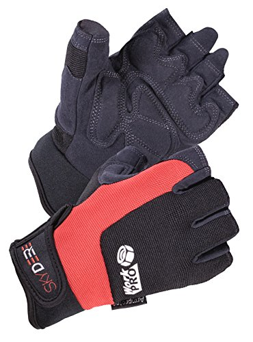 ce Synthetic Leather Utility Fingerless Work Gloves (SD8822/M) ()