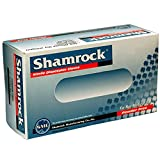 Shamrock 80113-L-bx Food Safe Industrial Grade Glove, Nitrile Rubber, 4 mil - 4.5 mil, Powder-Free, Textured, General Purpose, Non Latex, Allergy Free, Large, Blue (Pack of 100)