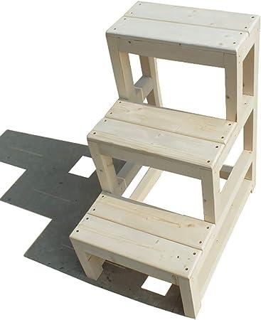 Taburete de escalera ZCJB Taburete De Madera Pesado De 3 Escalones con Pedal Ancho, Taburete De Aprendizaje De 70 Cm De Altura Uso Exterior/Interior, Carga 100 Kg Taburete (Size : 40×60×70cm): Amazon.es: Hogar