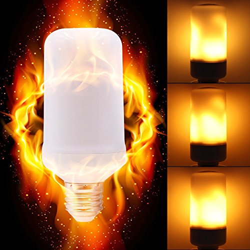 LED Flicker Flame Effect Light Bulb with Upside Down Effect,E26 LED Flickering Bulb - 7W - 320 Lumen -Simulated Decorative Lights Vintage Flame Lights for Christmas Decoration]()