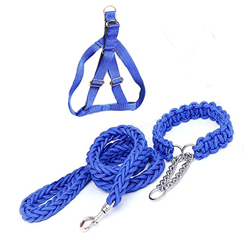 Dog Leash Dog Harness Dog Collar SIPIK Nylon Dog Leash Traction Rope Collar Harness for Small Medium Large Dog.
