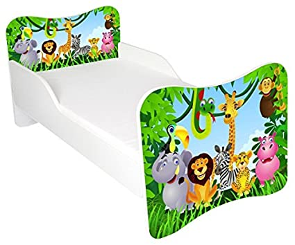 beautiful toddler bed with mattress included, jungle design amazon