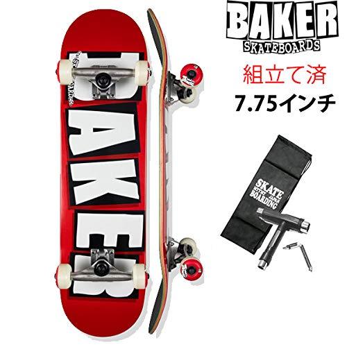 【代引き不可】 BAKER(ベイカー) コンプリート スケボー BRAND コンプリート BAKER ベーカー BRAND LOGO LOGO メーカーコンプリート/RED-WHITE 7.75インチ (レンチ+ケースサービス!) スケートボード B07R64WJ5B, スザキーズ:7cfaf727 --- 4x4.lt