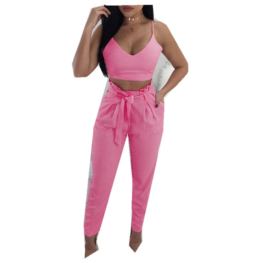 Summer Women's New Camisole Feet Pants Two-Piece Clothing Sets