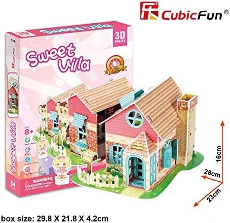 3D PUZZLE LED SWEET VILLA-CASA DE MUÑECAS 84 PIEZAS 8+: Amazon.es ...