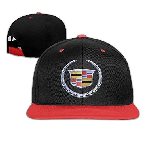 jswala-unisex-kids-cadillac-logo-hip-hop-baseball-caps-snapback-hats-red