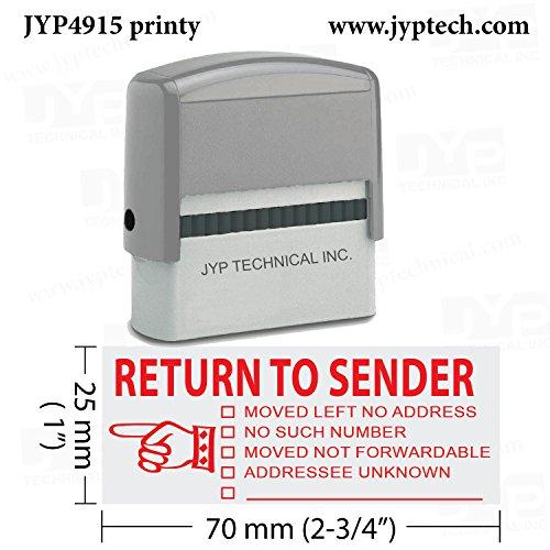 Return to Sender - Extra Large JYP 4915 Self Inking Rubber Stamp-Red Ink]()