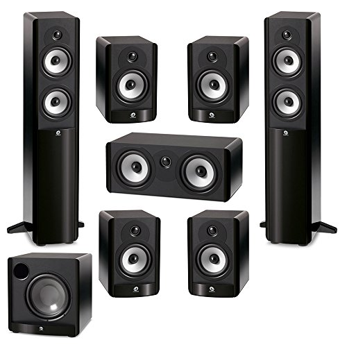 (Boston Acoustics 7.1 System with 2 A250 Floorstanding Speakers, 1 A225C Center Channel Speaker, 4 A25 Bookshelf Speaker, 1 Boston Acoustics ASW650 10 inch Subwoofer )